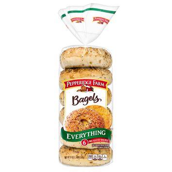 Pepperidge Farm® Everything Bagels, 21 oz. Bag, 6-pack