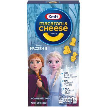 Kraft Macaroni & Cheese Frozen II Shapes Dinner, 5.5 oz Box
