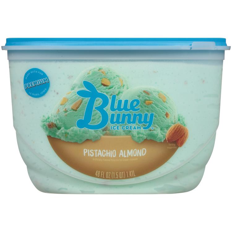 Blue Bunny Premium Pistachio Almond Ice Cream , 48 fl oz