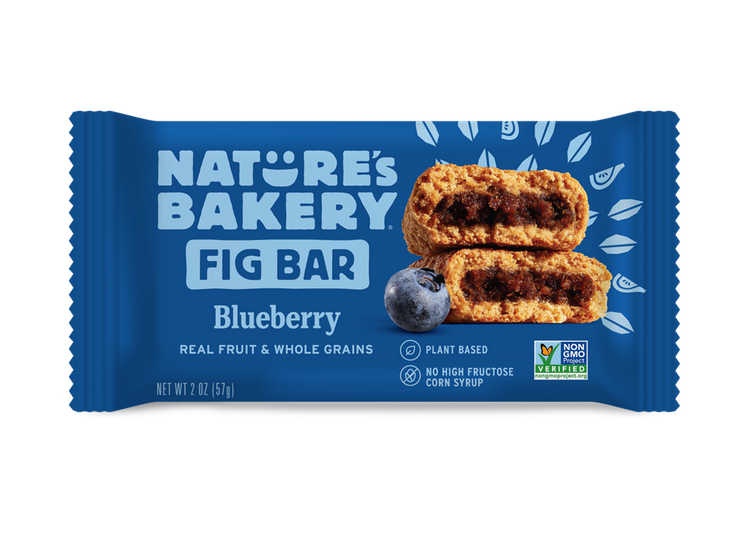 Nature's Bakery Whole Wheat Fig Bars Blueberry