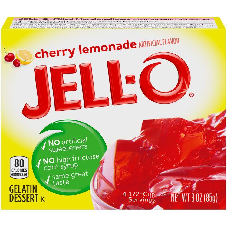Jell-O Cherry Lemonade Instant Gelatin Mix, 3 oz Box