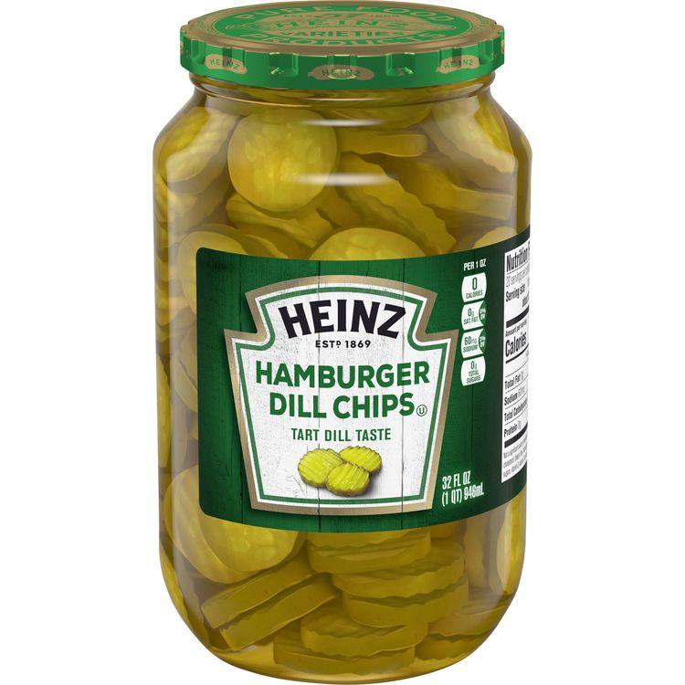 Heinz Hamburger Dill Pickle Chips