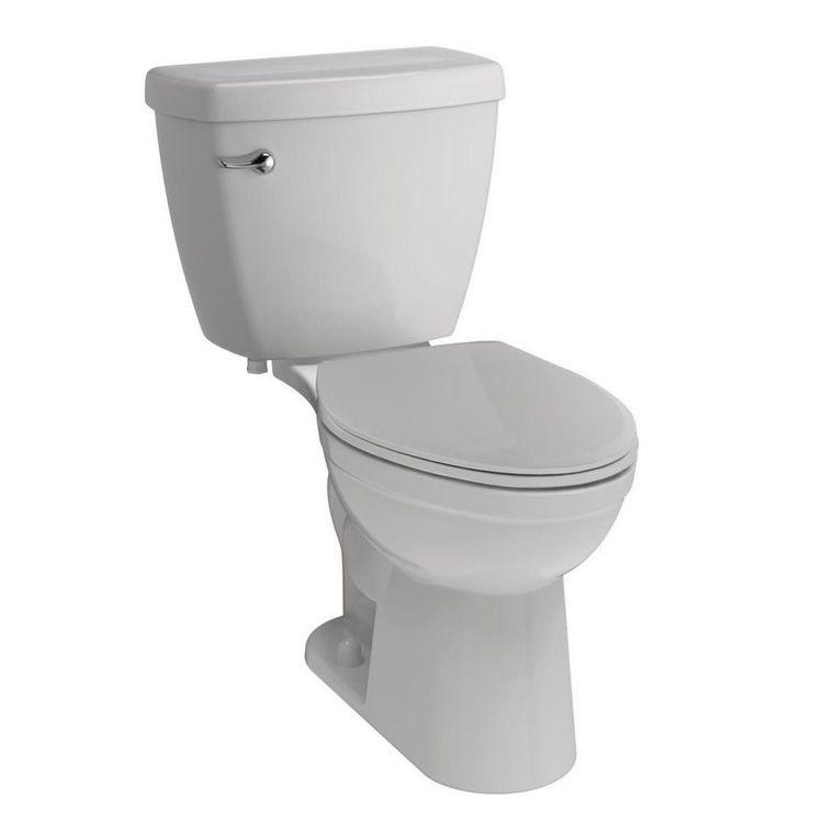 Delta Foundations 2-piece 1.28 GPF Single Flush Elongated Toilet in White
