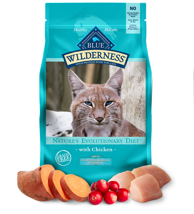 Blue Wilderness™ Nature'S Evolutionary Diet With Chicken For Indoor Hairball Adult Cats Dry Food