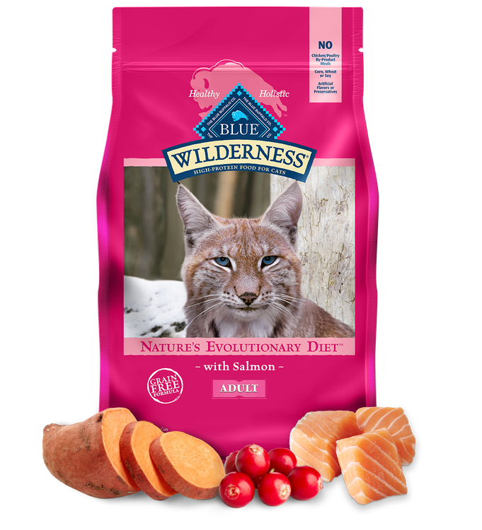 Blue Wilderness™ Nature'S Evolutionary Diet With Salmon For Adult Cats Dry Food