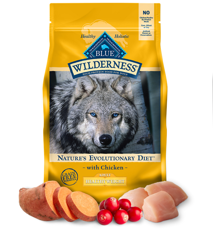 Blue Wilderness™ Nature'S Evolutionary Diet With Chicken For Healthy Weight Adult Dogs Dry Food