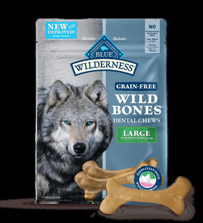 Blue Wilderness Dental Chews Dog Treats  Wild Bones