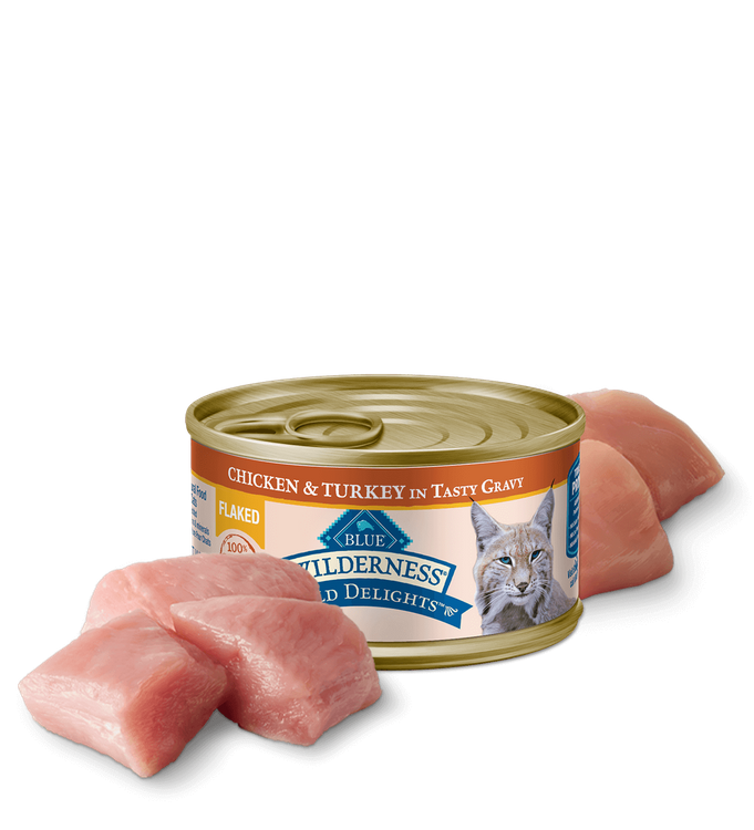 Blue Wilderness™ Wild Delights Wet Cat Food - Flaked Chicken & Turkey-Flaked