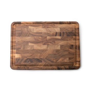 Large End Grain Prep Board With Juice Channel, Acacia Wood