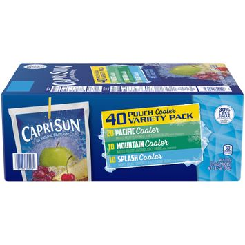 Capri Sun Coolers Variety Pack Mixed Fruit Flavored Juice Drink Blends, 40 ct. Box