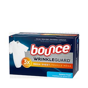 Bounce® WrinkleGuard Mega Sheet Outdoor Fresh Dryer Sheets