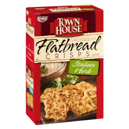 Keebler Town House Italian Herb Flatbread Crisps Crackers
