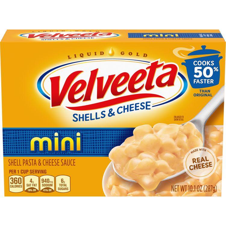 Velveeta Mini Shells Macaroni & Cheese Dinner, 10.1 oz Box