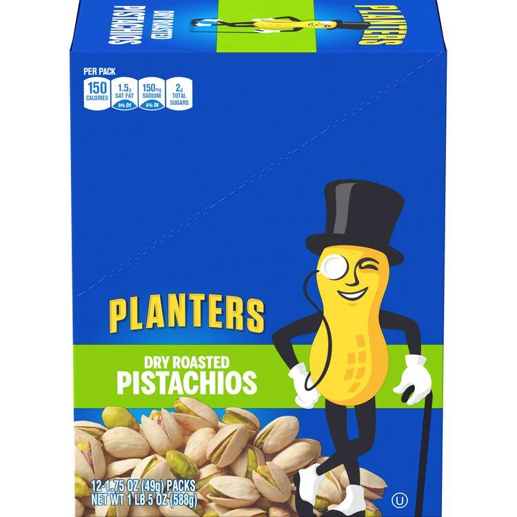 Planters Dry Roasted Pistachios, 12 ct Box, 1.75 oz Packs