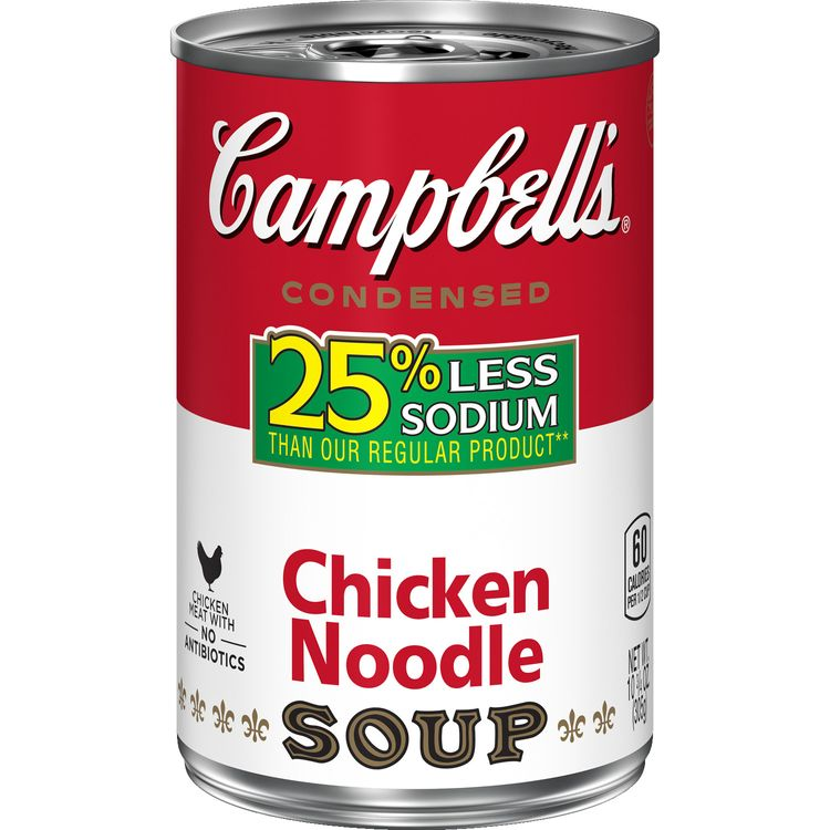 Campbell's® Condensed 25% Less Sodium Chicken Noodle Soup, 10.75 oz. Can