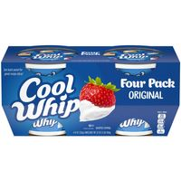 Kraft Cool Whip Original Whipped Topping Frozen, 4 – 8 oz Tubs