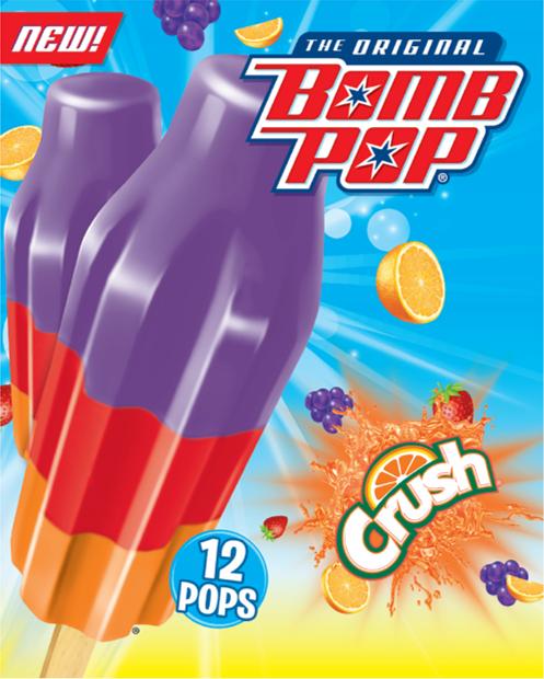 Bomb Pop Crush Ice Pops Bar
