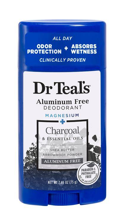 Dr Teal's Aluminum Free Deodorant, Charcoal, 2.65 oz