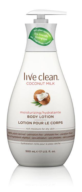 Live Clean Coconut Milk Moisturizing Body Lotion, 17 oz. Bottle