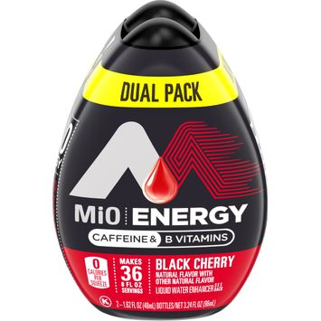 MiO Energy Black Cherry Liquid Water Enhancer with Caffeine, 1.62 fl. oz. Bottle