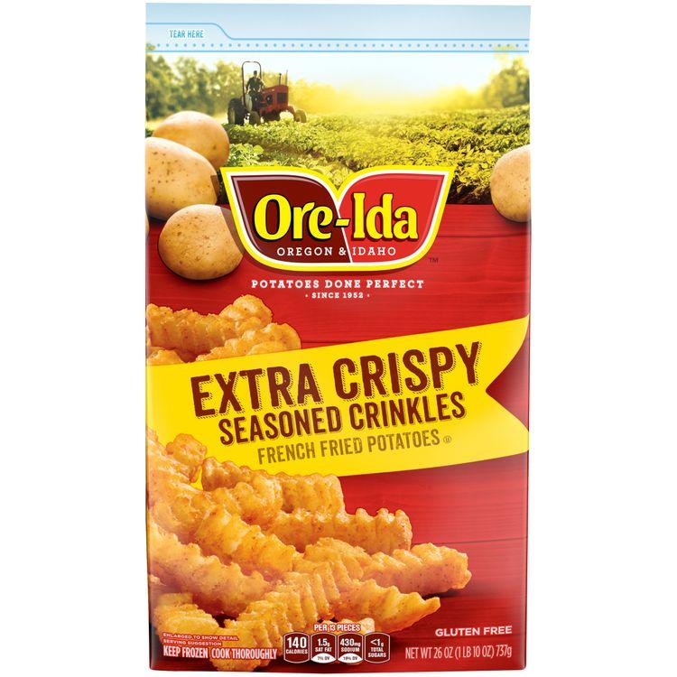 Ore-Ida Extra Crispy Seasoned Crinkles Fries, 26 oz Bag