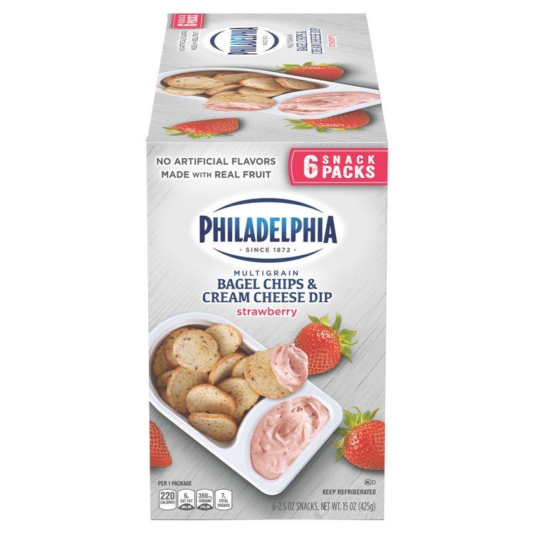 Philadelphia Multigrain Bagel Chips & Strawberry Cream Cheese Dip Snack