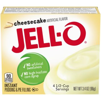 Jell-O Cheesecake Instant Pudding Mix, 3.4 oz Box