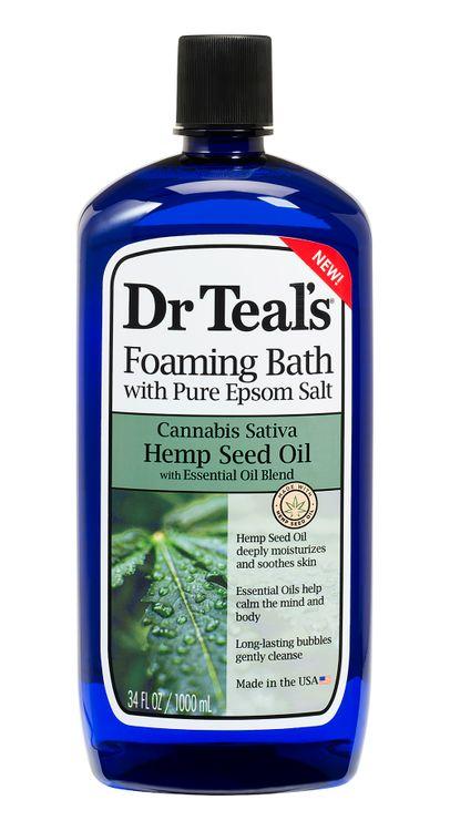 Dr Teals Hemp Seed Oil Foaming Bath 34oz