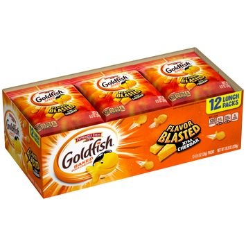 Pepperidge Farm® Goldfish® Flavor Blasted® Xtra Cheddar Crackers, 10.8 oz. Multi-pack Tray, 12-count 0.9 oz. Single-Serve Snack Packs