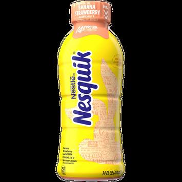 Nesquik Banana Strawberry Lowfat Milk 14 fl. oz. Bottle