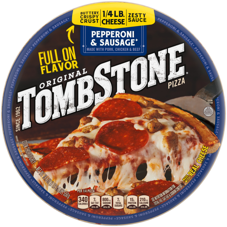 Tombstone Pepperoni & Sausage Frozen Pizza