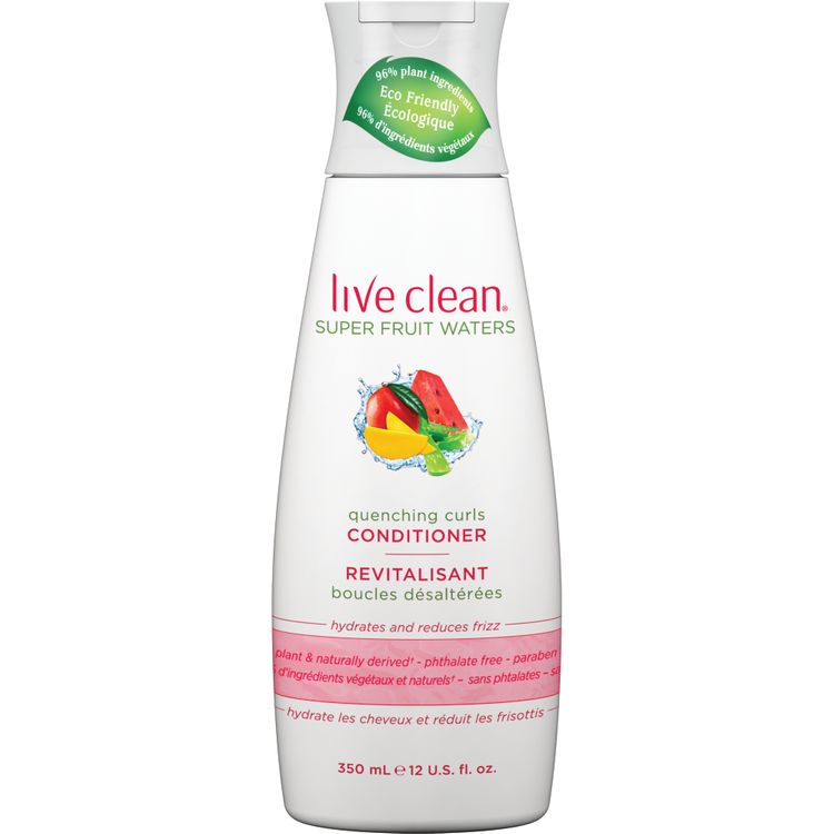 Live Clean Quenching Curls Conditioner, 12 oz. Bottle