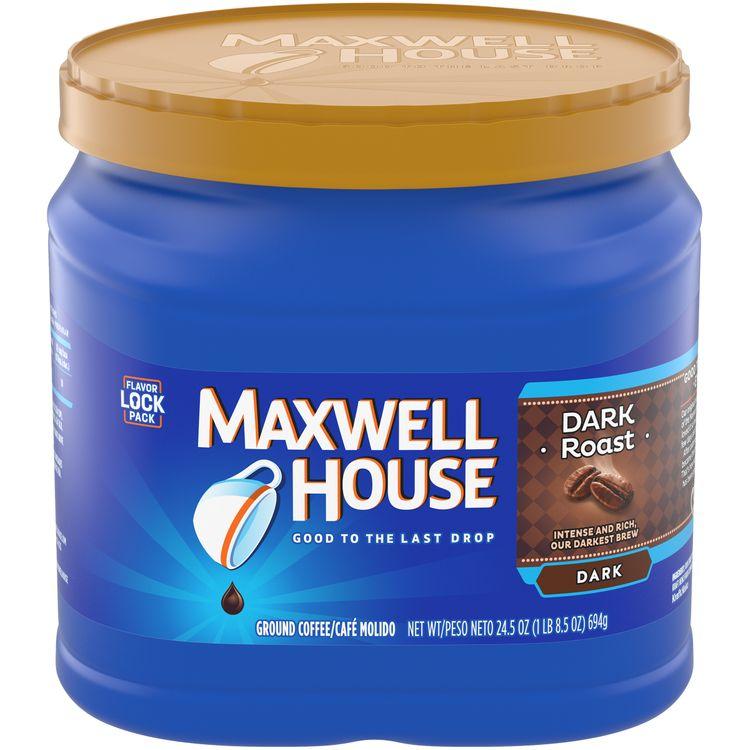 Maxwell House Dark Roast Ground Coffee, Caffeinated