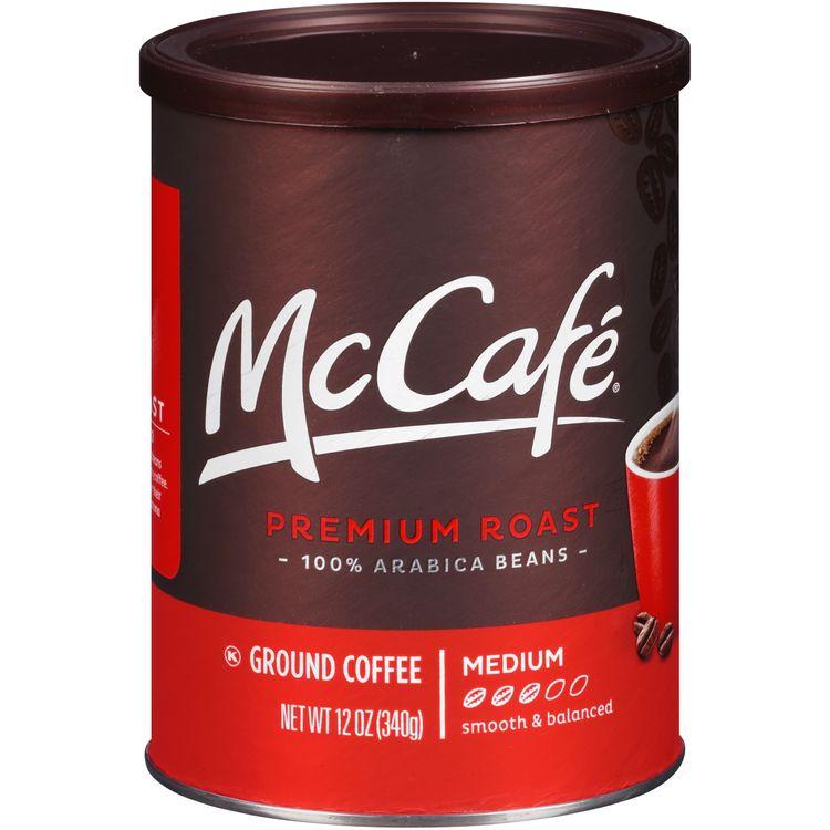 McCafe Premium Roast Medium Ground Coffee, Caffeinated, 12 oz Can