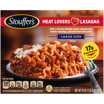 Stouffer's Meat Lovers Lasagna