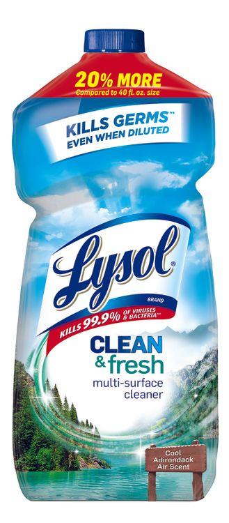 Lysol Clean & Fresh Multi-Surface Cleaner Pour Able Cool Adirondack Air - 48 Fl Oz