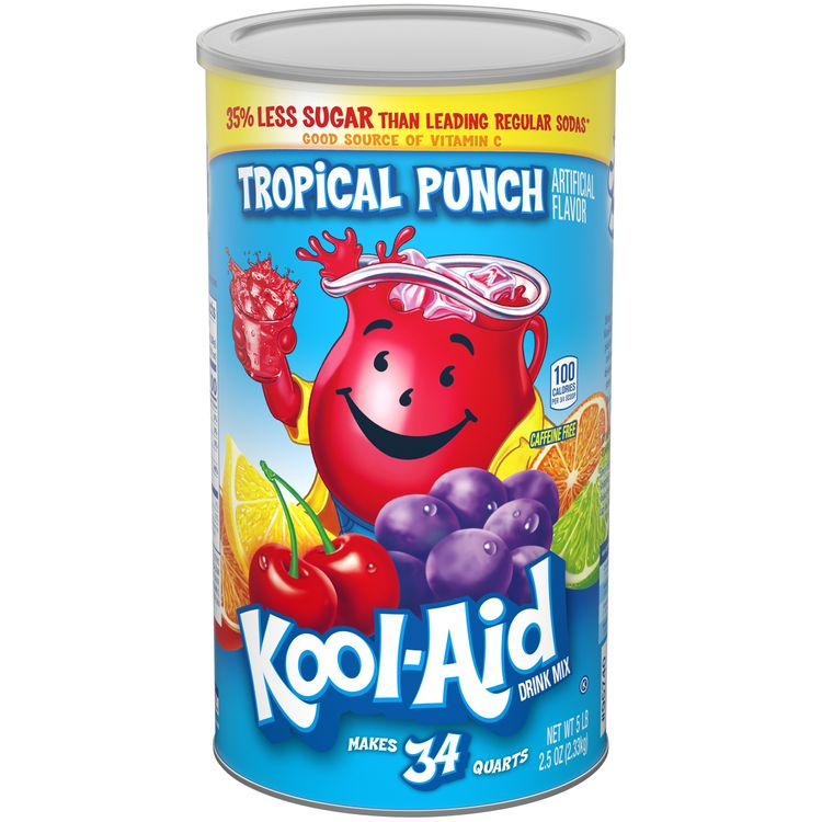 Kool-Aid Sugar Sweetened Tropical Punch Powdered Soft Drink