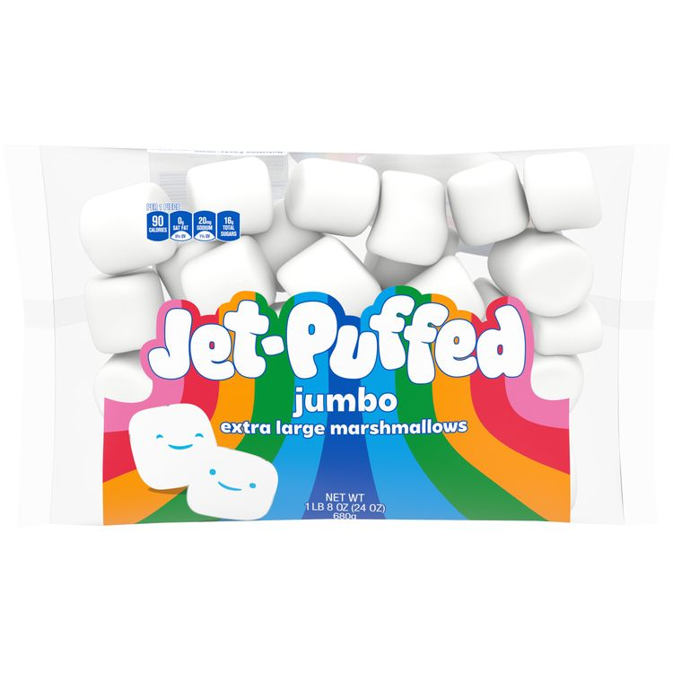 Jet-Puffed Jumbo Mallows Extra Large Marshmallows, 24 oz Bag