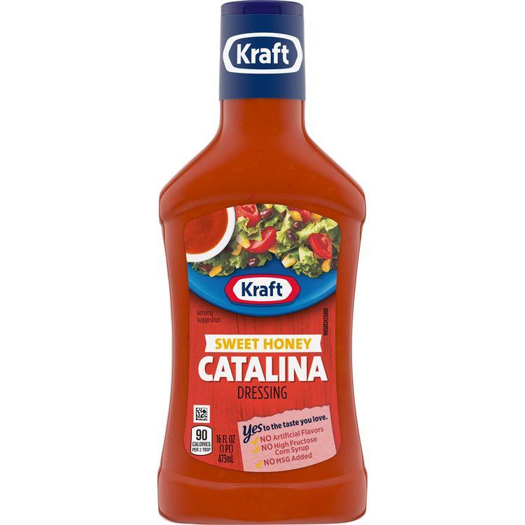 Kraft Sweet Honey Catalina Dressing, 16 fl oz Bottle