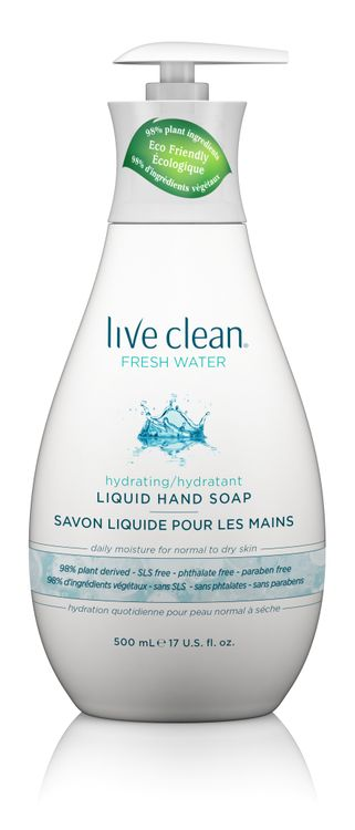 Live Clean Fresh Water Moisturizing Liquid Hand Soap, 17 oz. Bottle
