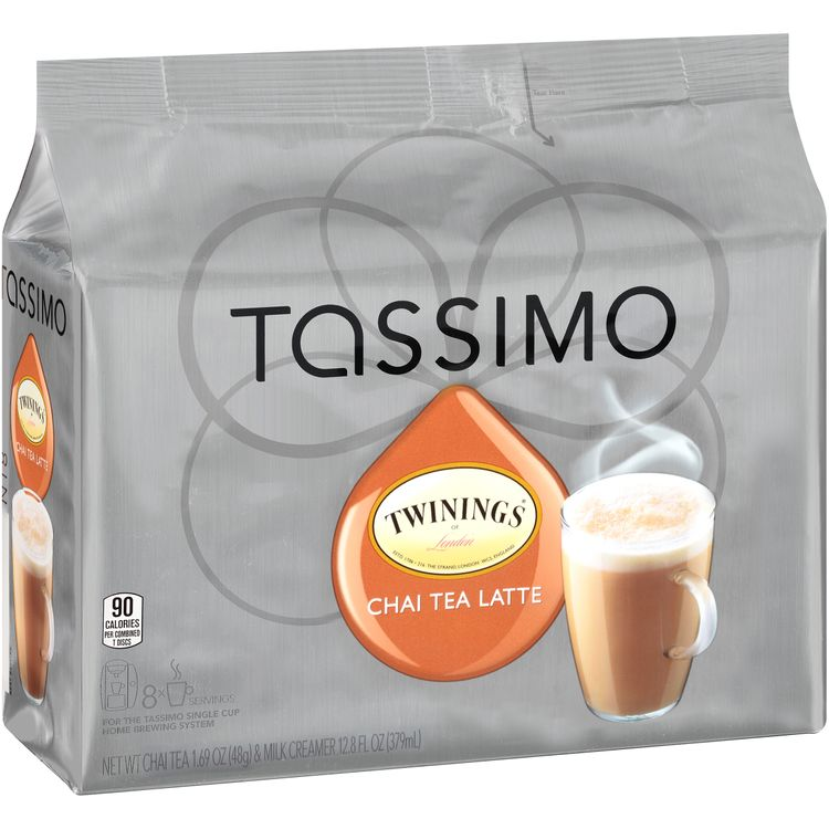 Twinings Chai Tea Latte T-Discs for Tassimo Brewing System, 8 count Wrapper