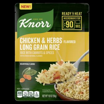 Knorr Ready to Heat Arroz con Sabor de Pollo y con Hierbas