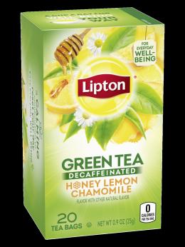 Lipton Decaffeinated Honey Lemon Green Tea