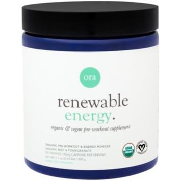 Renewable Energy Pre-Workout - BERRY AND POMEGRANATE (7.1 Ounces Powder) by Ora Organic at the Vitamin Shoppe