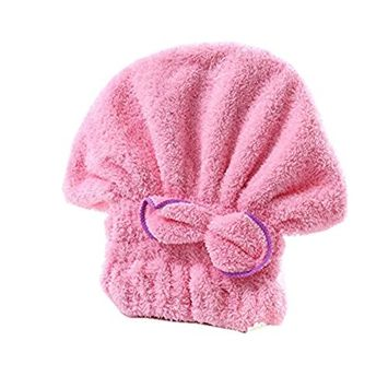 ULTNICE Soft Absorbent Hair Drying Towel Spar Hair Turban Wrap for Bathing Mother Daughter Sister (Pack of 2)