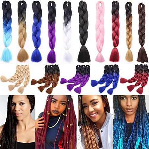 "Women 24""60cm Jumbo Braid Crochet Hair Afro Jumbo Braiding(5 Piece)Hair Extensions Ombre Gradient Color Hair Kanekalon Fiber for Twist Braiding Hair ([3 pack]Solid Color, Ash Blonde)"
