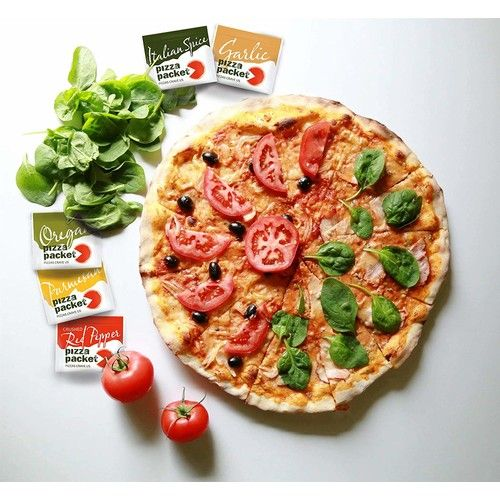 Pizza Packet - Individual Parmesan Cheese Flavoring and Seasoning Packets - Bulk 200 Packets for Restaurant & Catering