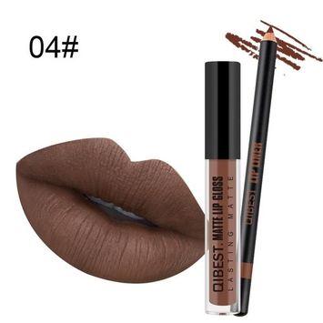 Lip Gloss for Girls, Staron Lipgloss Sets for women With Lip Liner Pencil Liquid Lipstick Makeup Waterproof Lip Gloss Long Lasting Moisturizer Beauty Liquid Matte Lipstick