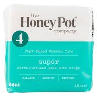 The Honey Pot Herbal Menstrual Pads - 16ct