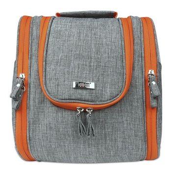 BUBM Teens Nylon Waterproof Travel Beauty Toiletry Bag With Wall Hook Hanger Big Capacity
